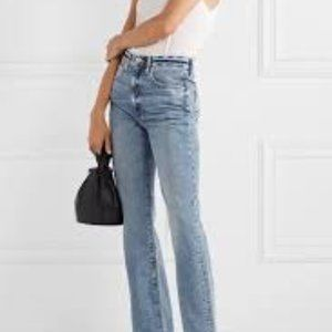 London Jeans Stretch Mid Rise Straight Leg Jeans